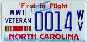 NC-World-War-II-Veteran-License-Plate